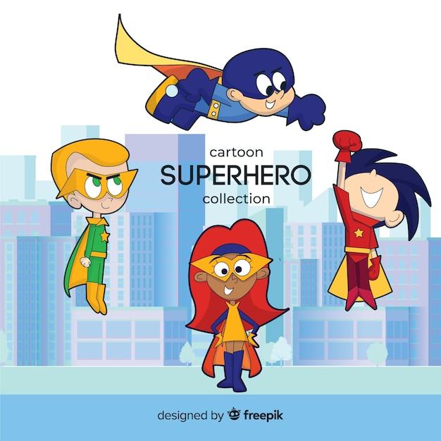 Pack de super-enfants Vecteur gratuit