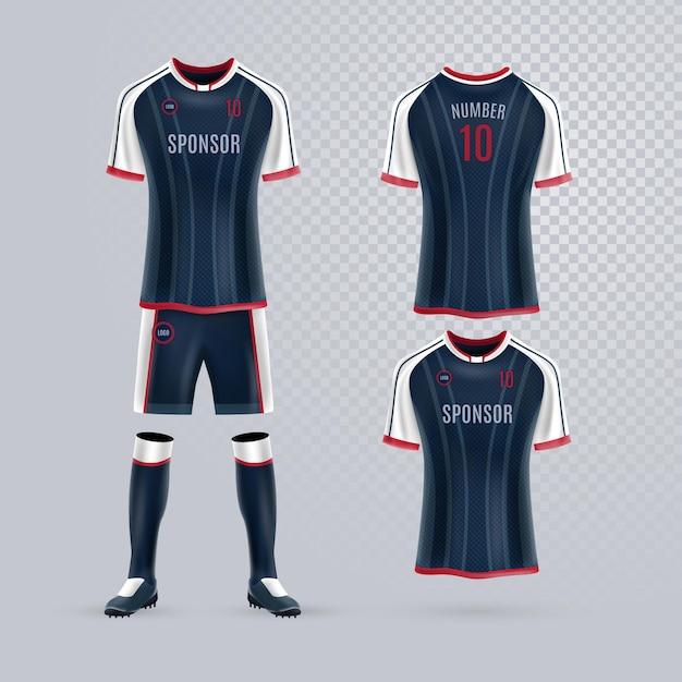 Pack D'uniformes De Football Vecteur gratuit