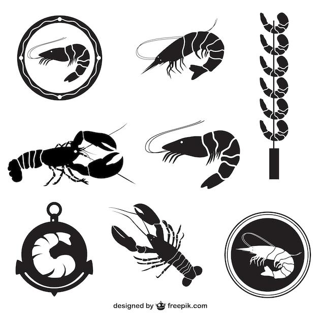 Pack vecteur de crevettes Vecteur gratuit
