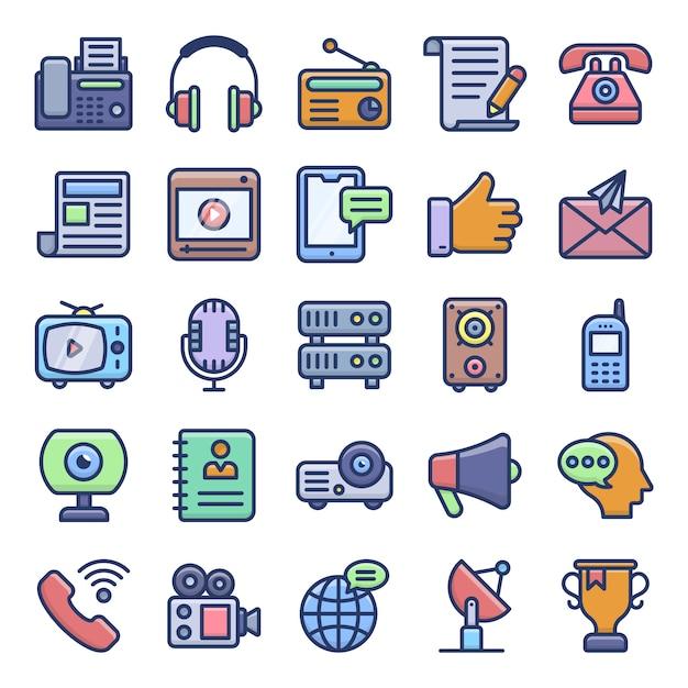 Pack de vecteurs de communication Vecteur Premium