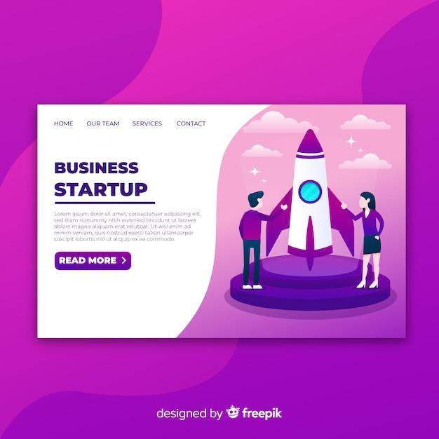 Page d'accueil de démarrage Vecteur gratuit