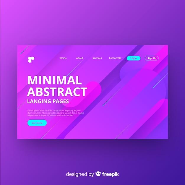 Page d'arrivée abstraite minimale Vecteur gratuit