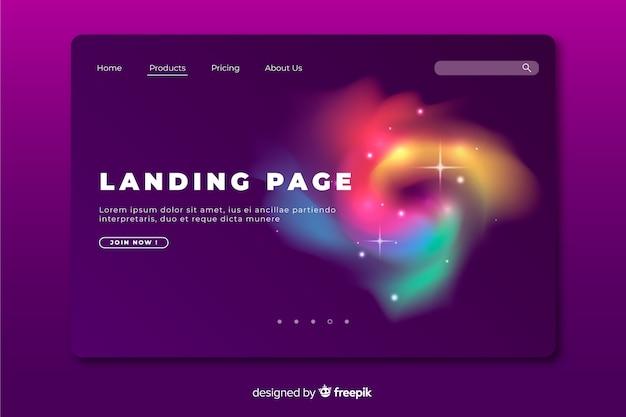 Page d'atterrissage abstrait délire coloré Vecteur gratuit