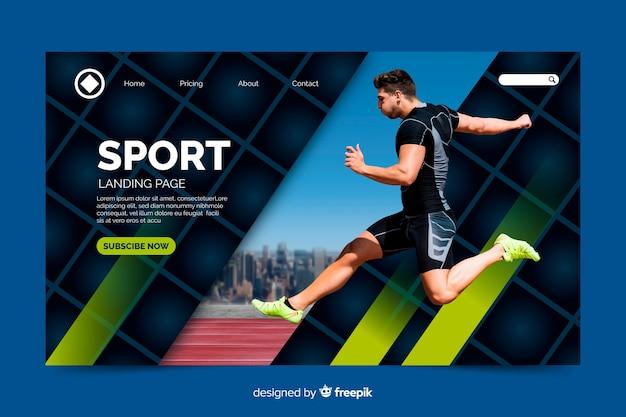 Page d'atterrissage de l'atletisme sportif Vecteur gratuit