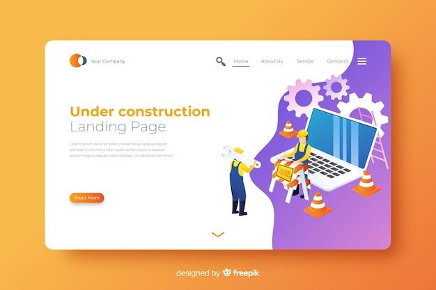 Page d'atterrissage en construction Vecteur gratuit