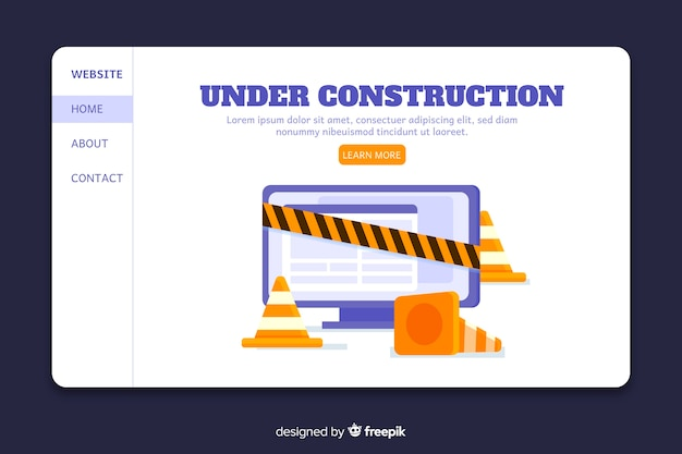 Page d'atterrissage en construction Vecteur gratuit