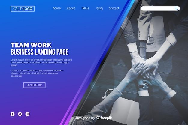 Page D'atterrissage Du Travail D'équipe Vecteur gratuit