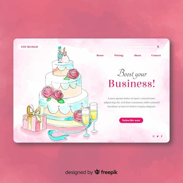 Page d'atterrissage de mariage Vecteur gratuit