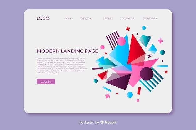 Page d'atterrissage moderne géométrique Vecteur gratuit