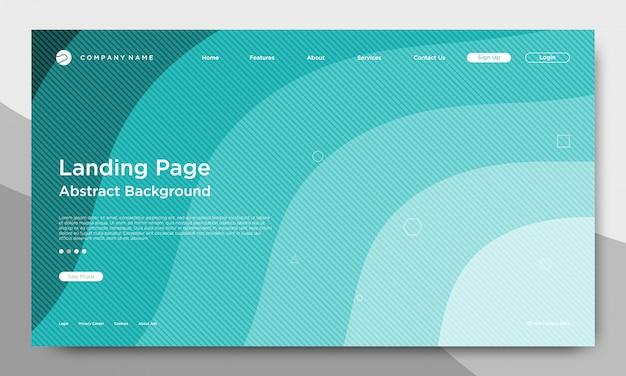 Page d'atterrissage de site web, fond abstrait et moderne Vecteur Premium
