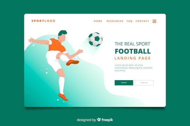 Page d'atterrissage sport football Vecteur gratuit