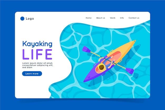 Page d'atterrissage de sport en plein air Vecteur gratuit