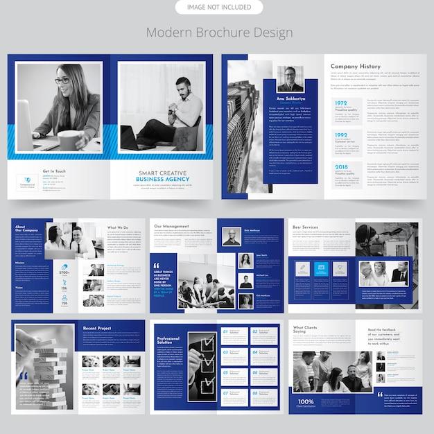 Page brochure de profil d'entreprise Vecteur Premium