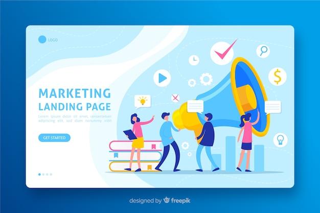 Page de conception marketing Vecteur gratuit