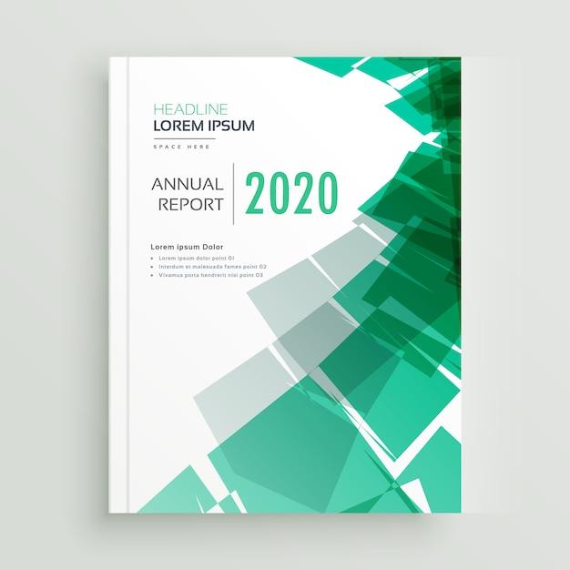 Page de couverture de livre d'affaires vert abstrait ou modèle de brochure Vecteur gratuit