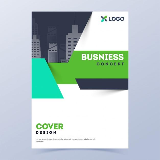 Page de couverture ou de présentation de modèle de brochure pour le concept d'entreprise. Vecteur Premium