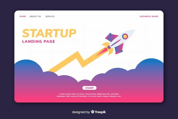 Page de départ de démarrage colorée Vecteur gratuit