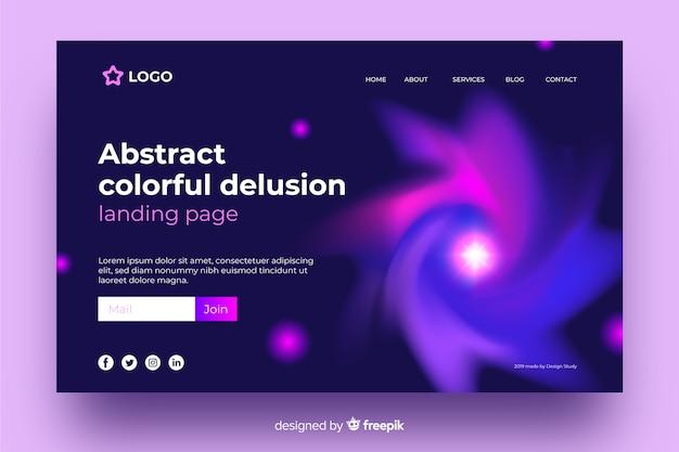 Page De Destination Abstraite Délire Coloré Vecteur gratuit
