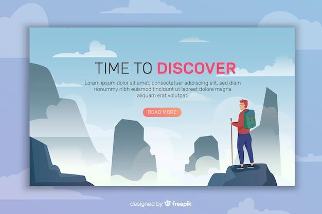 Page de destination abstraite Vecteur gratuit