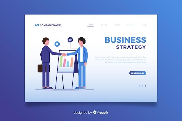 Page De Destination De L'approche Commerciale Au Design Plat Vecteur gratuit
