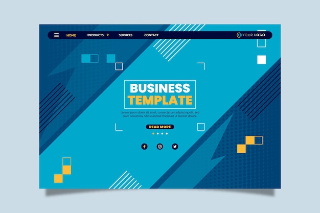 Page De Destination Commerciale Générale Vecteur gratuit