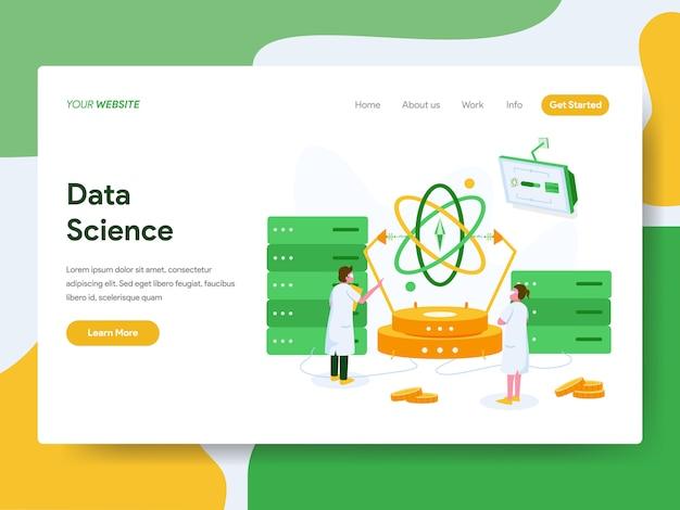 Page de destination. concept d'illustration data science Vecteur Premium