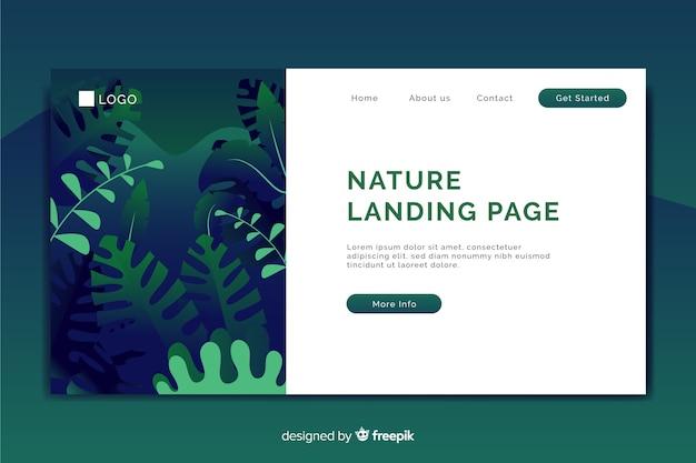 Page de destination avec le concept de nature Vecteur gratuit
