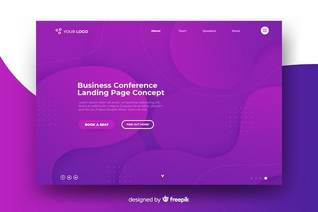 Page de destination d'une conférence d'affaires Vecteur gratuit