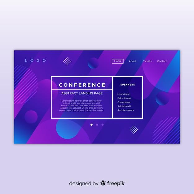 Page de destination de la conférence Vecteur gratuit