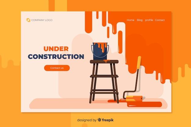 Page de destination en construction Vecteur gratuit