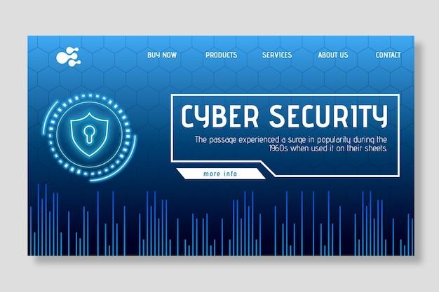 Page De Destination De La Cybersécurité Vecteur gratuit