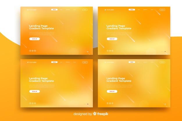 Page de destination dégradé coloré Vecteur Premium