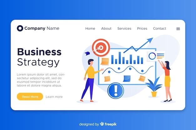 Page de destination design plat pour les entreprises Vecteur gratuit