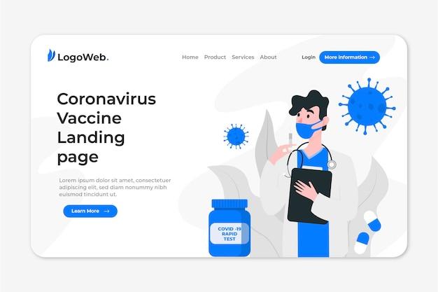 Page De Destination Avec Développement D'un Traitement Contre Les Coronavirus Vecteur gratuit