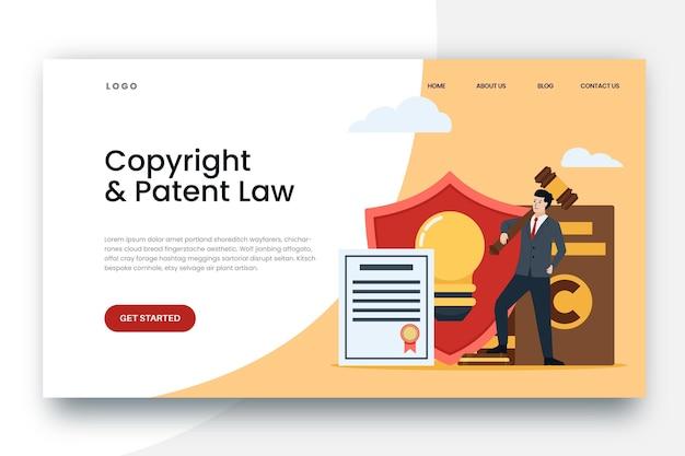 Page De Destination Des Droits D'auteur Vecteur Premium