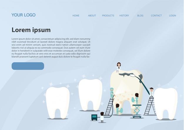 Page De Destination Du Concept Médical Vecteur Premium