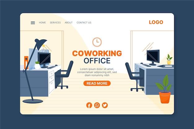 Page De Destination Du Design D'intérieur Vecteur gratuit