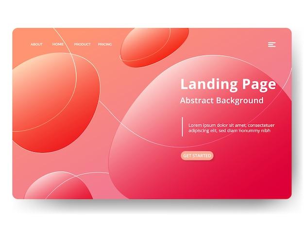 Page de destination du modèle abstrait Vecteur Premium