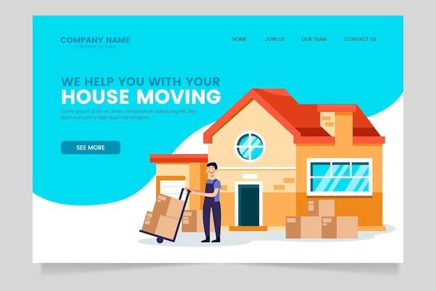 Page De Destination Du Modèle De Services De Déménagement De Maison Vecteur gratuit
