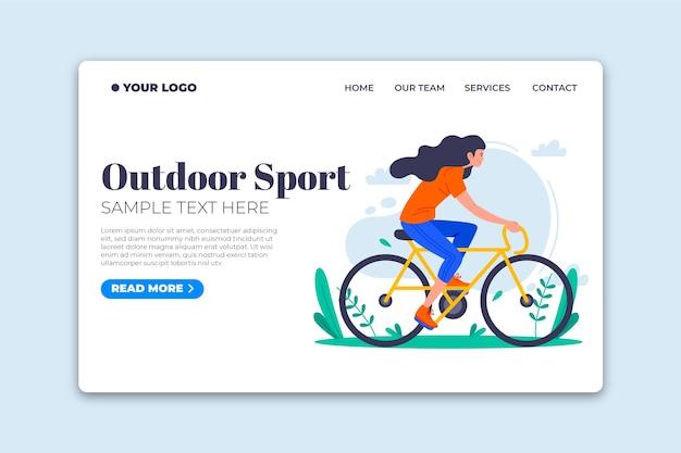 Page De Destination Du Modèle De Sport En Plein Air Vecteur gratuit
