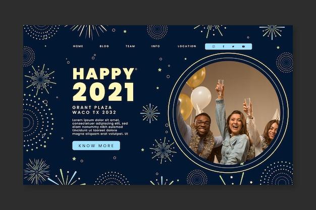 Page De Destination Du Nouvel An 2021 Vecteur gratuit