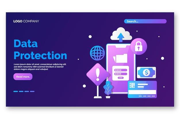 Page De Destination Du Phishing Mobile Vecteur gratuit