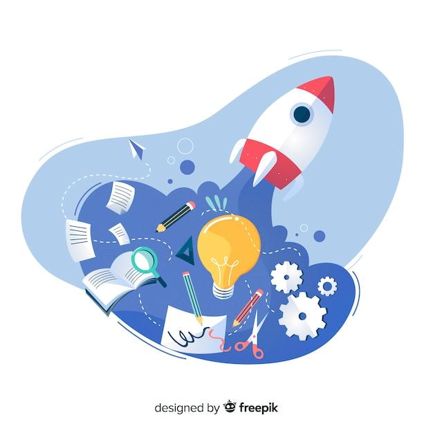 Page De Destination Du Processus De Conception De La Page De Destination Vecteur gratuit