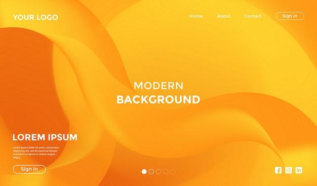 Page de destination du site web avec fond géométrique de forme moderne Vecteur Premium