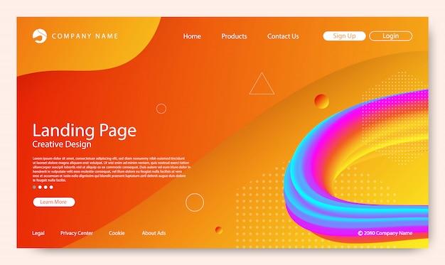 Page de destination du site web Vecteur Premium