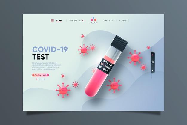 Page De Destination Du Test Covid-19 Vecteur gratuit