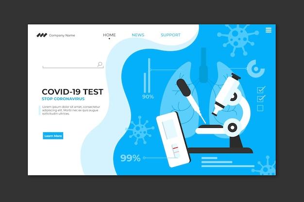 Page De Destination Du Test Du Coronavirus Vecteur gratuit
