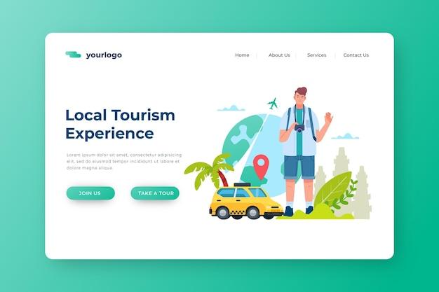 Page De Destination Du Tourisme Local Vecteur gratuit