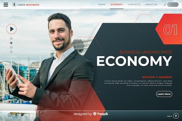 Page De Destination De L'économie Vecteur gratuit