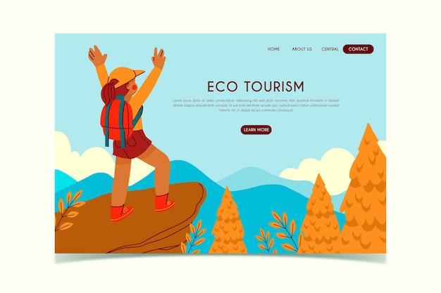 Page De Destination De L'écotourisme Vecteur gratuit